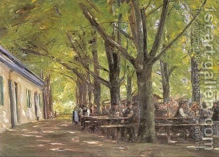 A Country Brasserie, Brannenburg, Bavaria, 1894 by Max Liebermann - Reproduction Oil Painting