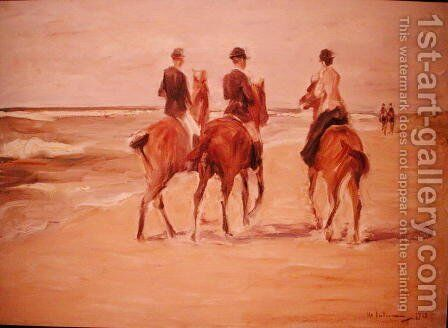 Rider on the Beach, 1923 by Max Liebermann - Reproduction Oil Painting