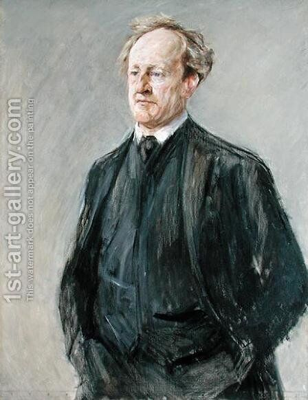 The Poet Gerhart Hauptmann (1862-1946) 1912 by Max Liebermann - Reproduction Oil Painting