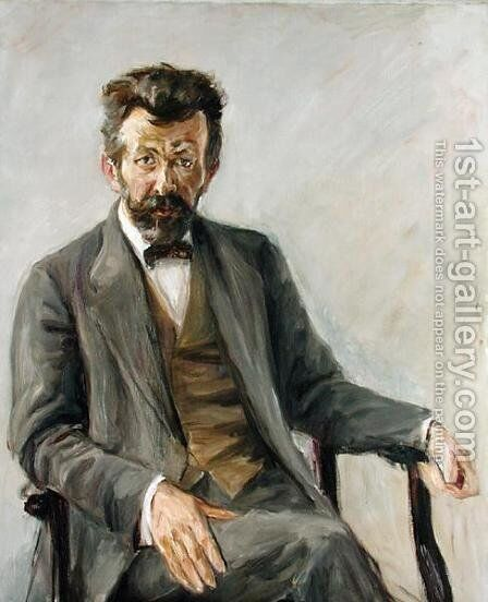 The Poet Richard Dehmel (1863-1920), 1909 by Max Liebermann - Reproduction Oil Painting
