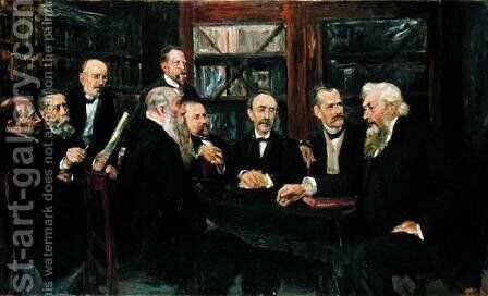 The Hamburg Convention of Professors, 1906 by Max Liebermann - Reproduction Oil Painting