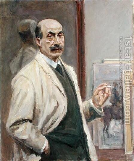 Self Portrait, 1910 by Max Liebermann - Reproduction Oil Painting