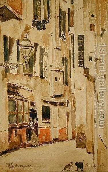 Venetian Street, 1878 by Max Liebermann - Reproduction Oil Painting