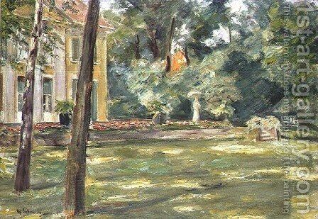 Garden Scene by Max Liebermann - Reproduction Oil Painting