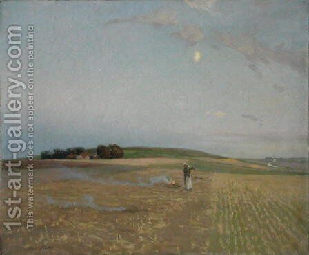 Burning Couch Grass, 1902 by Alexander Mann - Reproduction Oil Painting