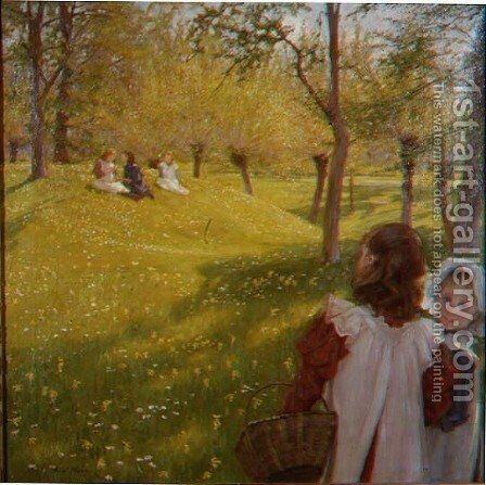 Springtime by Alexander Mann - Reproduction Oil Painting