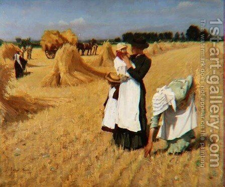 The Gleaners by Alexander Mann - Reproduction Oil Painting