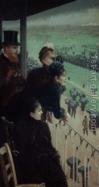 The Races at Auteuil by Giuseppe de Nittis - Reproduction Oil Painting