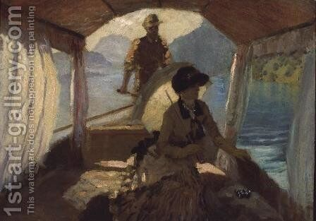 On the Lake of Quattro Cantoni, 1881 by Giuseppe de Nittis - Reproduction Oil Painting