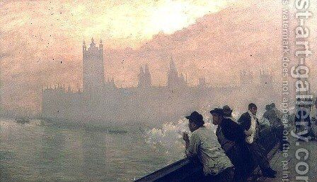 Westminster, 1878 by Giuseppe de Nittis - Reproduction Oil Painting