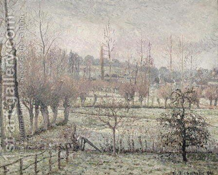 Snow Effect at Eragny, 1894 by Camille Pissarro - Reproduction Oil Painting