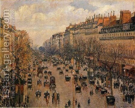 Boulevard Montmartre, Afternoon Sun, 1897 by Camille Pissarro - Reproduction Oil Painting