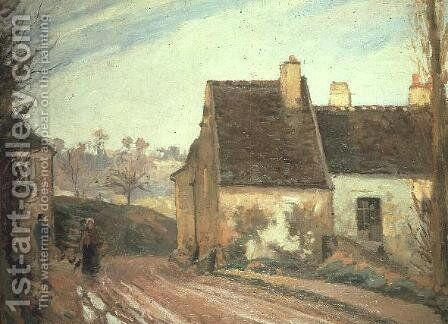 The Tumbledown Cottage near Osny, 1872 by Camille Pissarro - Reproduction Oil Painting