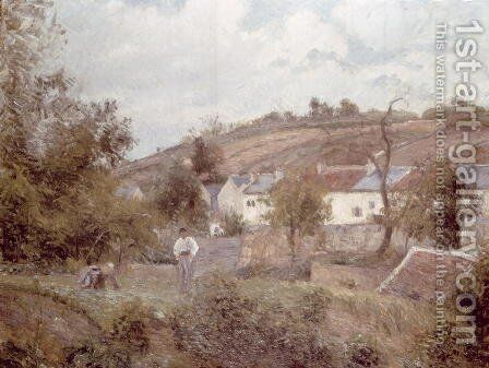 Village near Pontoise by Camille Pissarro - Reproduction Oil Painting