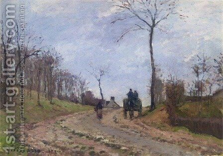 Impression of Winter: Carriage on a Country Road, 1872 by Camille Pissarro - Reproduction Oil Painting