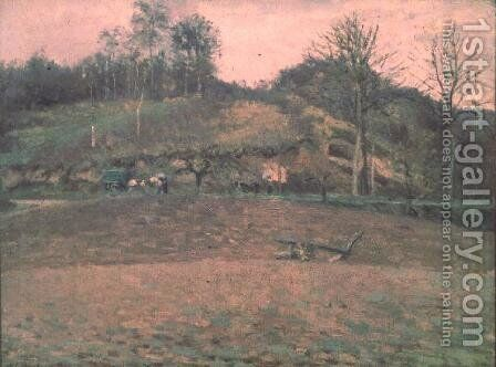 Ploughland, 1874 by Camille Pissarro - Reproduction Oil Painting
