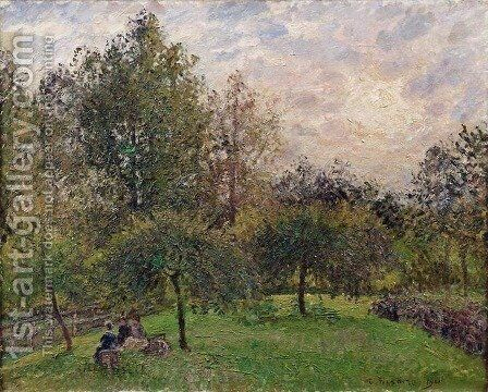 Apple Trees and Poplars in the Setting Sun, 1901 by Camille Pissarro - Reproduction Oil Painting