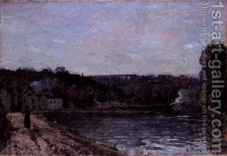 The Seine at Bougival, 1871 by Camille Pissarro - Reproduction Oil Painting