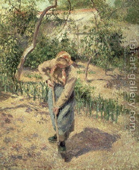 Woman Digging in an Orchard, 1882 by Camille Pissarro - Reproduction Oil Painting