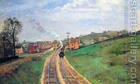 Lordship Lane Station, Dulwich, 1871 by Camille Pissarro - Reproduction Oil Painting