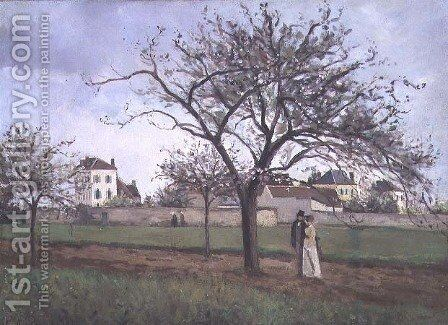 Pere Gallien's House at Pontoise, 1866 by Camille Pissarro - Reproduction Oil Painting