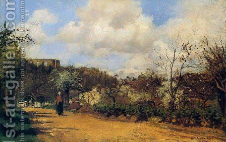 View from Louveciennes, 1869-70 by Camille Pissarro - Reproduction Oil Painting