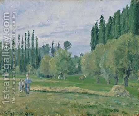 Haymaking, 1874 by Camille Pissarro - Reproduction Oil Painting