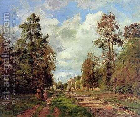 The road to Louveciennes at the edge of the wood, 1871 by Camille Pissarro - Reproduction Oil Painting
