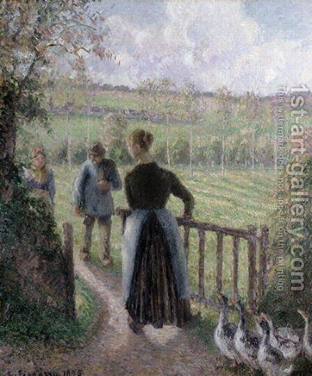 The Woman with the Geese, 1895 by Camille Pissarro - Reproduction Oil Painting