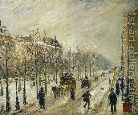 The Boulevards under Snow, 1879 by Camille Pissarro - Reproduction Oil Painting