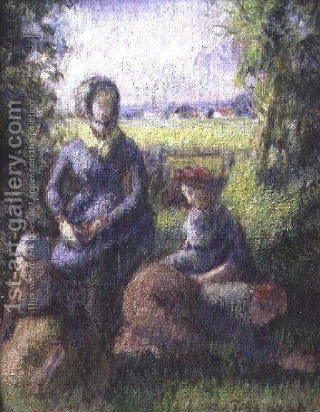 Rustic scene by Camille Pissarro - Reproduction Oil Painting