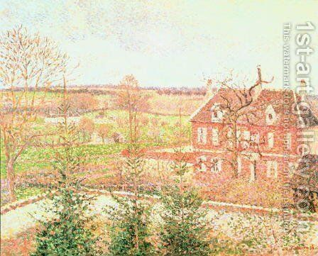 View from my window: the house of the deaf person, 1886 by Camille Pissarro - Reproduction Oil Painting
