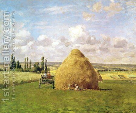 The haystack, Pontoise, 1873 by Camille Pissarro - Reproduction Oil Painting