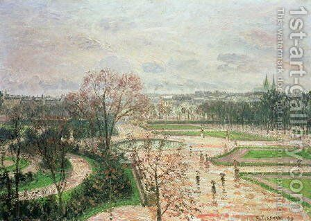 The Garden of the Tuileries in Rainy Weather, 1899 by Camille Pissarro - Reproduction Oil Painting
