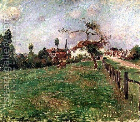 The Village of Eragny by Camille Pissarro - Reproduction Oil Painting