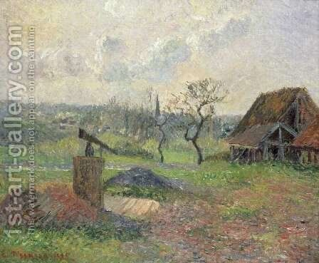 A Brick-Works Eragny, 1885 by Camille Pissarro - Reproduction Oil Painting