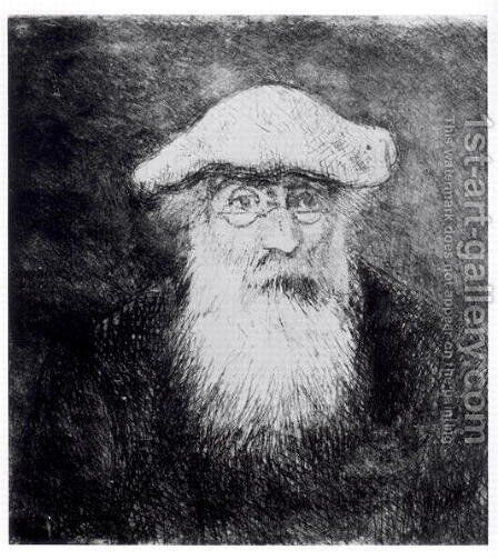 Self Portrait by Camille Pissarro - Reproduction Oil Painting