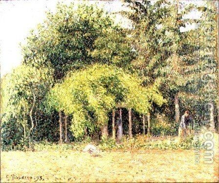 The Arbour at Eragny, 1893 by Camille Pissarro - Reproduction Oil Painting