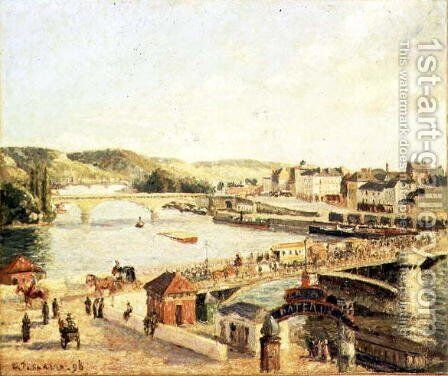 Sunshine at Rouen, 1896 by Camille Pissarro - Reproduction Oil Painting