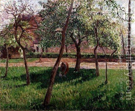 Walled Garden at Eragny, 1895 by Camille Pissarro - Reproduction Oil Painting