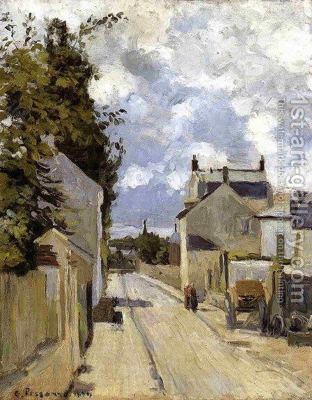 Rue de l'Ermitage, Pontoise, 1874 by Camille Pissarro - Reproduction Oil Painting
