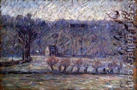 The Hill at Vaches, Bazincourt, c.1890 by Camille Pissarro - Reproduction Oil Painting