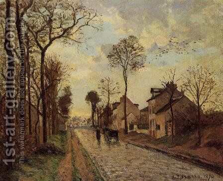 The Louveciennes Road, 1870 by Camille Pissarro - Reproduction Oil Painting