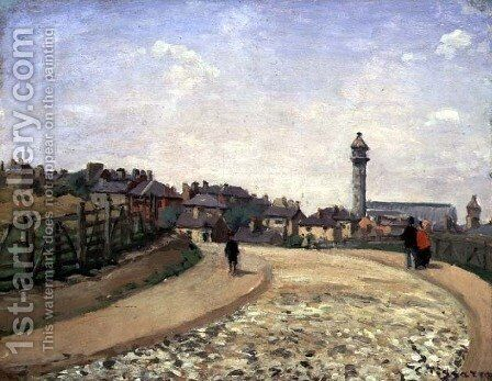 Crystal Palace, Upper Norwood by Camille Pissarro - Reproduction Oil Painting
