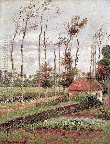 Landscape at Varengeville, Grey Weather, 1899 by Camille Pissarro - Reproduction Oil Painting