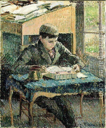The Artist's Son, 1893 by Camille Pissarro - Reproduction Oil Painting