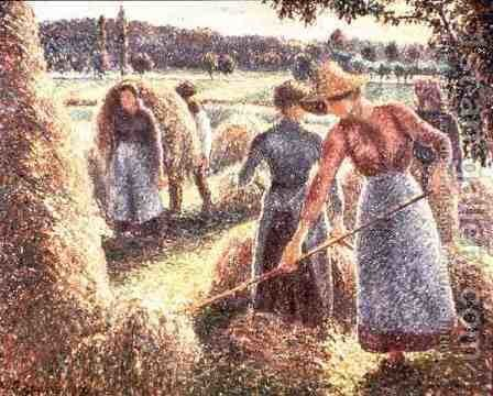 Haymakers, Evening, 1893 by Camille Pissarro - Reproduction Oil Painting