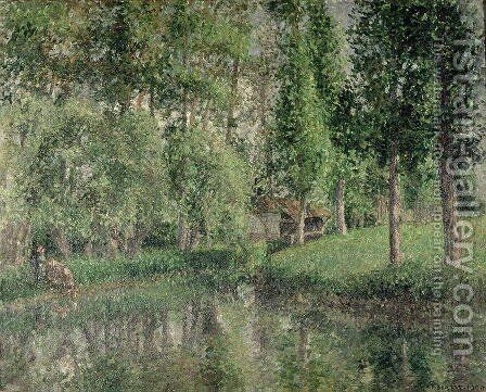 The Wash-house at Bazincourt, 1900 by Camille Pissarro - Reproduction Oil Painting