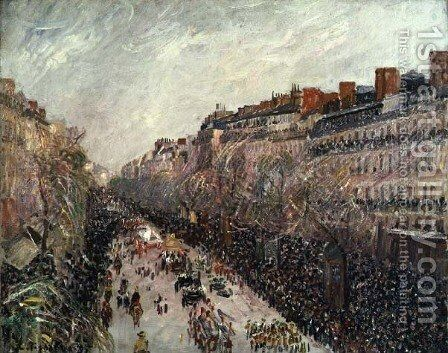 Mardi Gras on the Boulevards, 1897 by Camille Pissarro - Reproduction Oil Painting