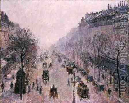 Street Scene by Camille Pissarro - Reproduction Oil Painting